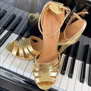 Gold Goddess Strappy High Heel Sandals